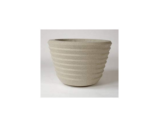 Frank Lloyd Wright Johnson Wax Building Vase Planter -