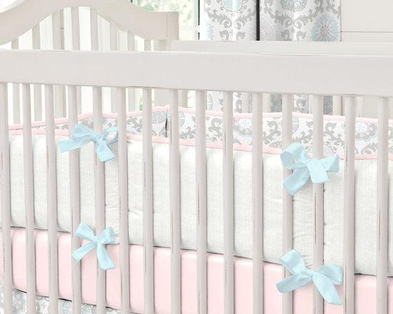 Pink and Gray Rosa Crib Bumper -