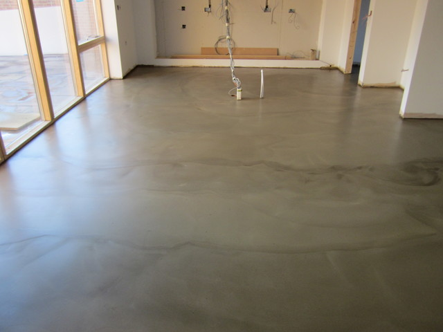 domestic residential polished concrete flooring solacir