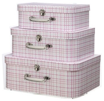 Buy little home at John Lewis, Suitcases for Girls, Set of 3 online at JohnLewis traditional-storage-bins-and-boxes