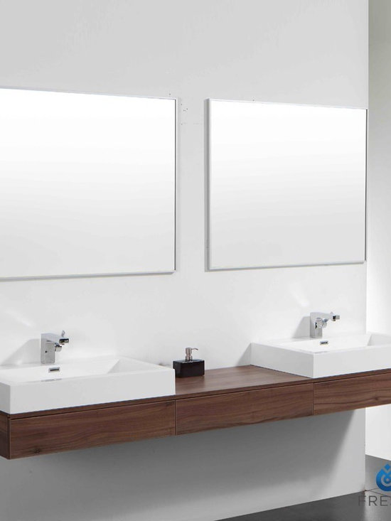Fresca Ciron Modern Double Sink Bathroom Vanity - Fresca Ciron Modern Double Sink Bathroom Vanity includes a mirrors which complements the lines of this bathroom set. Fresca is a leading manufacturer of high-quality vanities, accessories, toilets, faucets, and everything else to give you the freshest bathroom in the neighborhood. Fresca is known for carrying the latest and most popular styles in modern and contemporary bathroom design that are made with high quality materials and superior workmanship.