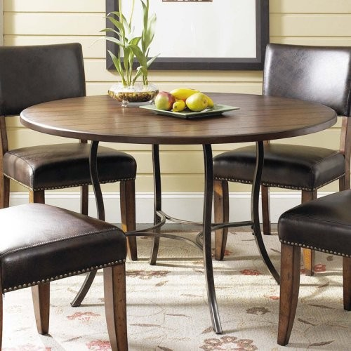 Round Dining Table and Parson Chairs