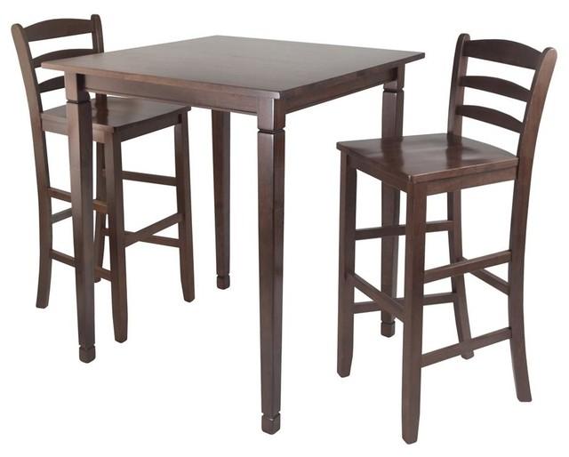kingsgate 3 pc pub table set contemporary dining sets