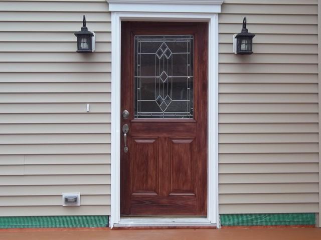Faux Wood Door Painting