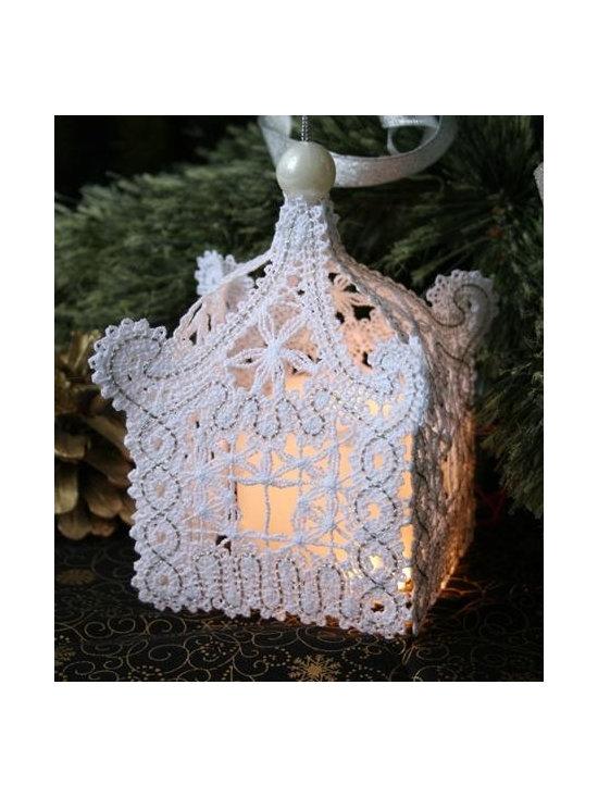 FSL Battenberg Lace Pagoda Ornament. -