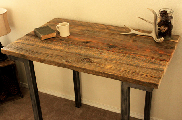 Reclaimed Wood Bar Pub Table Modern Indoor Pub And