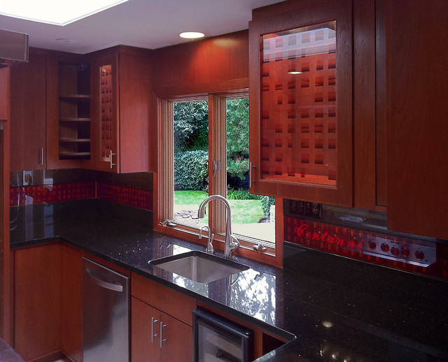 Art Glass Kitchen Counter Top & Cabinet Doors - Contemporary - Kitchen Countertops - boston - by ...