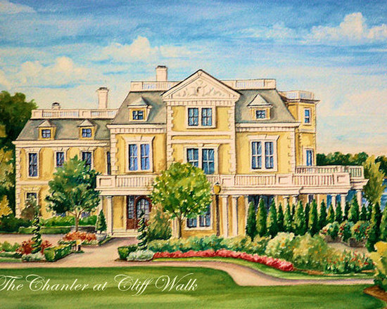 Architectural House Portraits - Create a Cusotm Designed Architectural House Portraits by Renee' MacMurray