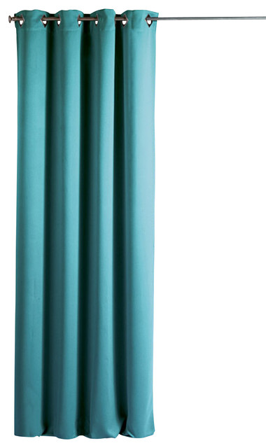 Blackout Window Curtain Panels Square Grommets Cocoon Turquoise Blue Contemporary Curtains