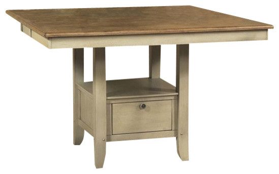Liberty Furniture Al Fresco 54 Inch Square Counter Height Table in Light Wood