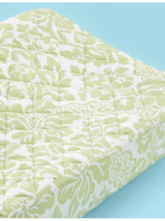 Changer Pad Cover, Green Flourish Floral -