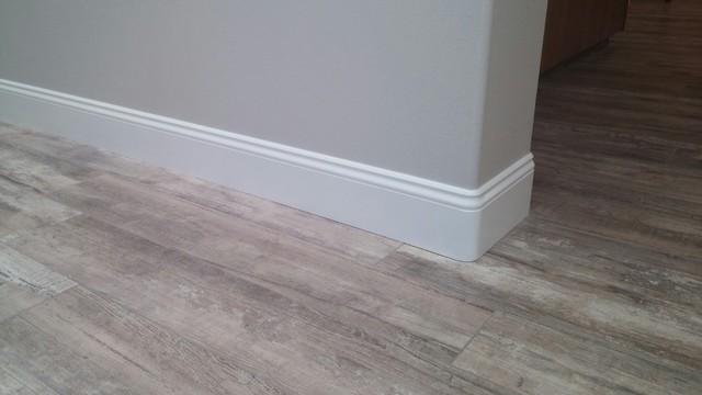 New Baseboards Over Tile Flooring - Modern - san diego - by Vrieling Woodworks