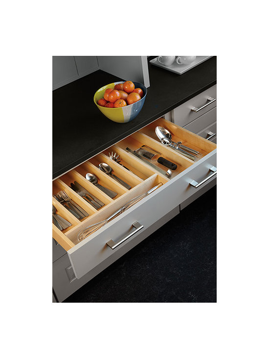Drawer Organizer - Neatly organize your flatware and larger serving pieces and utensils.