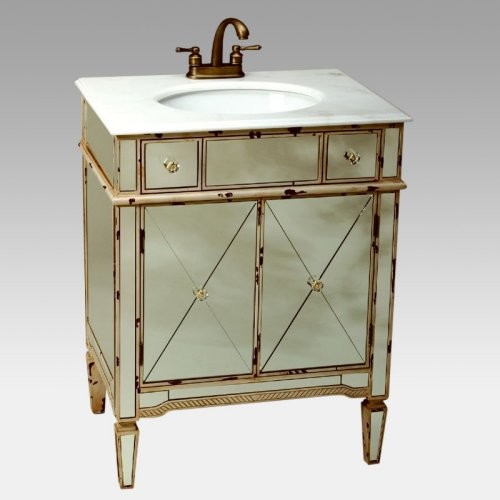Afton Mirrored Vanity With Sink Traditional Bathroom Vanities And Sink Co