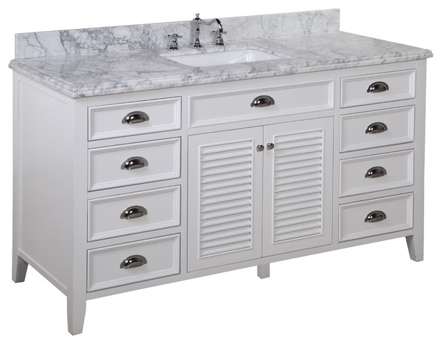 Savannah 60 in single sink bath vanity carrara white transitional bathroom vanities and 60 in bathroom vanities with single sink