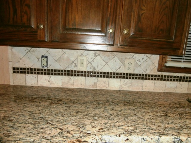 ST. CECILIA Granite on Dark Cabinets - Traditional ...