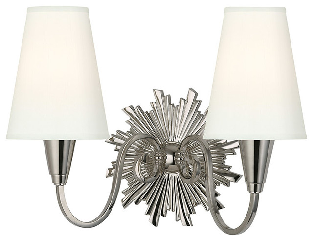 Hudson Valley Lighting 5592-PN-WS Bleecker 2 Light Wall Sconces in Polished Nick transitional-wall-sconces