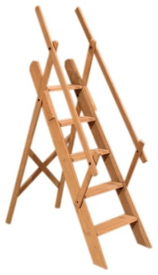 Westminster Oak Library Ladder Traditional Ladders And