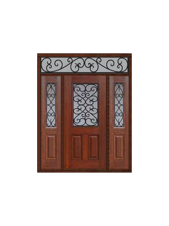 "Prehung Side lights-Transom Door 80 Fiberglass Palermo 1/2 Lite - SKU#    MCT012WP_DFHPG1-2RPGBrand    GlassCraftDoor Type    ExteriorManufacturer Collection    1/2 Lite Entry DoorsDoor Model    PalermoDoor Material    FiberglassWoodgrain    Veneer    Price    4105Door Size Options    32"" + 2( 14"")[5'-0""]  $036"" + 2( 14"")[5'-4""]  $036"" + 2( 12"")[5'-0""]  $0Core Type    Door Style    Door Lite Style    1/2 LiteDoor Panel Style    2 PanelHome Style Matching    Door Construction    Prehanging Options    PrehungPrehung Configuration    Door with Two Sidelites and Rectangular TransomDoor Thickness (Inches)    1.75Glass Thickness (Inches)    Glass Type    Double GlazedGlass Caming    Glass Features    Tempered glassGlass Style    Glass Texture    Glass Obscurity    Door Features    Door Approvals    Energy Star , TCEQ , Wind-load Rated , AMD , NFRC-IG , IRC , NFRC-Safety GlassDoor Finishes    Door Accessories    Weight (lbs)    663Crating Size    36"" (w)x 108"" (l)x 89"" (h)Lead Time    Slab Doors: 7 Business DaysPrehung:14 Business DaysPrefinished, PreHung:21 Business DaysWarranty    Five (5) years limited warranty for the Fiberglass FinishThree (3) years limited warranty for MasterGrain Door Panel"