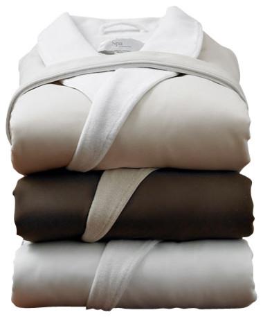 St. Tropez Signature Spa Robe, White traditional-bathrobes