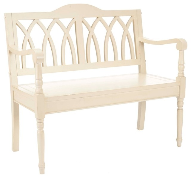 safavieh franklin distressed white bench modern bedroom benches