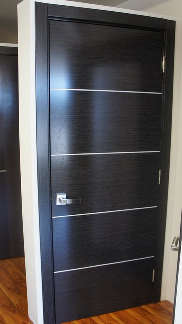 Avanti modern interior door black apricot finish contemporary interior doors new york by - Modern home luxury doors ...