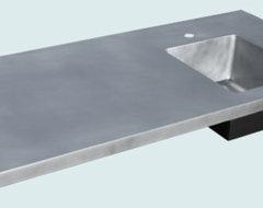 Zinc countertops for modern kitchen modern kitchen for Zinc countertop cost