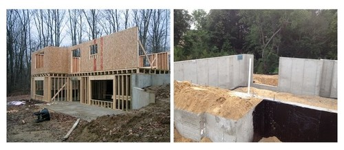 Walkout Basement Poured Concrete Walkout Side V S