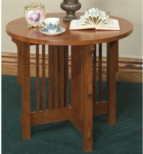 Furniture Empire Arts and Crafts Mission End Table traditional-side-tables-and-end-tables