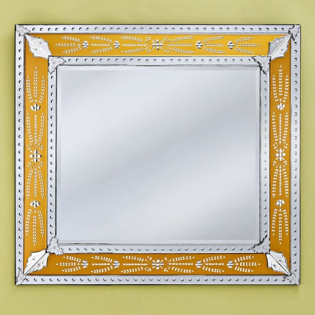 Eleina Gold Venetian Wall Mirror - 55W x 50H in. traditional mirrors