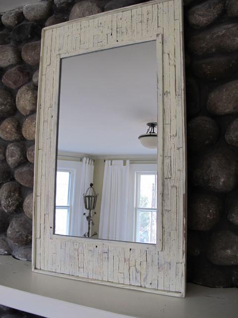 Recycled wood beach mirror beach-style-mirrors