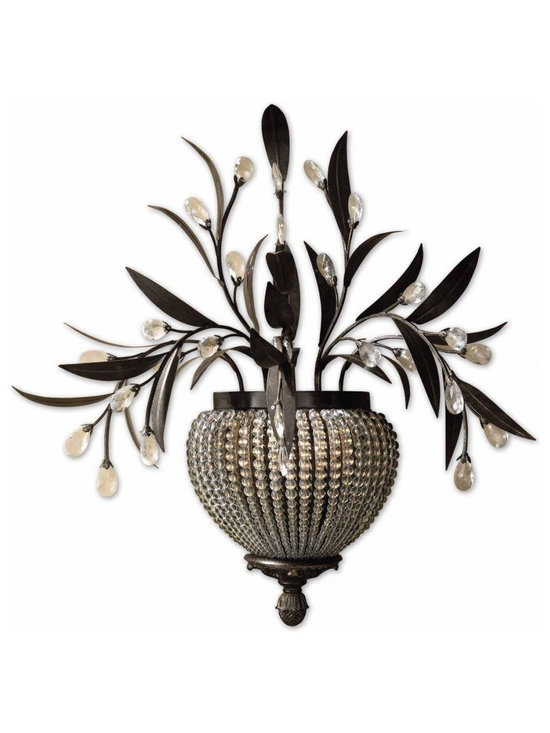 www.essentialsinside.com: cristal de lisbon 2 light wall sconce - Cristal De Lisbon, 2 Light Wall Sconce by Uttermost, available at www.essentialsinside.com