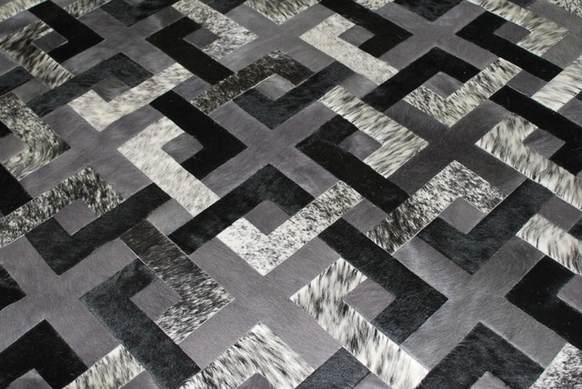 Connection Design Rug in Cowhide rugs