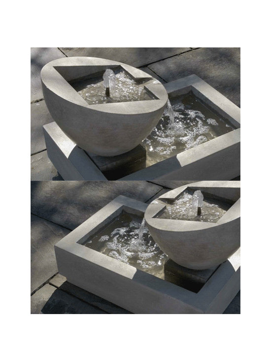 Genesis II Fountain - This cast stone fountain is graphic and modern. I love how the shapes come together and the fact that it's available in multiple finishes to suit your needs.