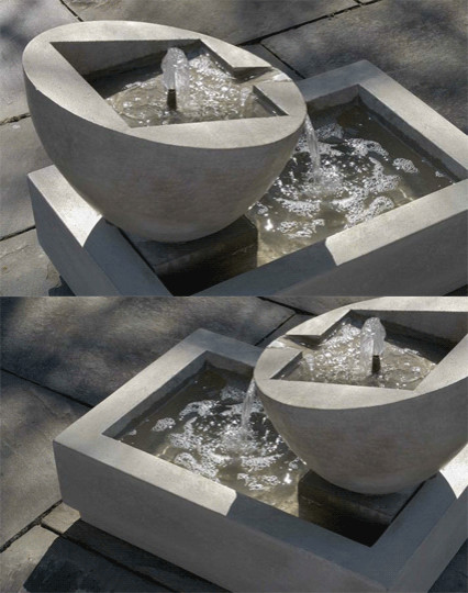Genesis Ii Fountain Contemporary Outdoor Fountains And
