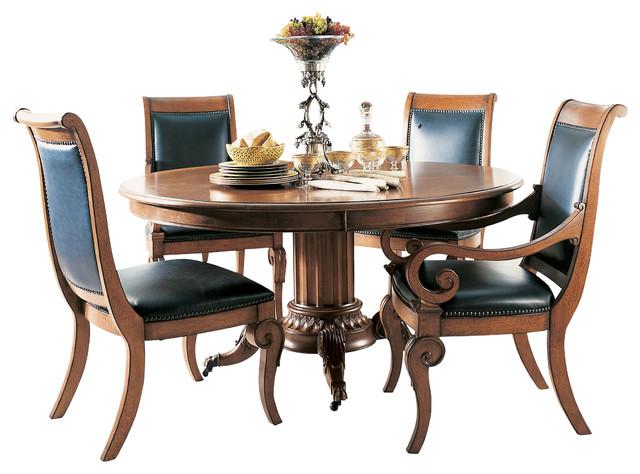Raylen Vineyards Wine Taster 39 S Pedestal Dining Table Mediterranean Dining Tables By