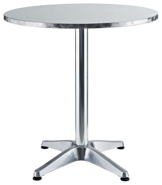 Modern Round Aluminum Indoor Outdoor Table Contemporary Outdoor