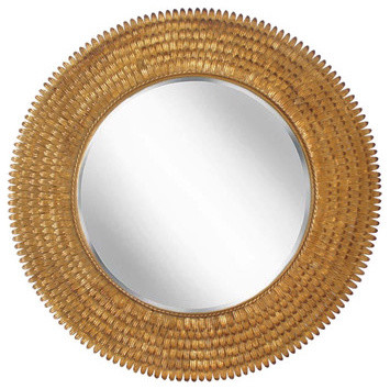 Gold Feather Mirror contemporary-wall-mirrors