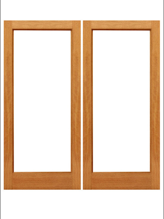 AAW Inc. - French Doors Model # Mahogany 1 Lite - Traditional Styled French doors in Mahogany.  These doors are stainable and paintable and come in multiple sizes in options with including Low-E Glass.  These doors can be used as interior (available under our Interior Glass Doors)  or exterior doors.