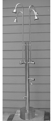 Outdoor Shower Company Free Standing Shower with 4 Heads modern-showerheads-and-body-sprays