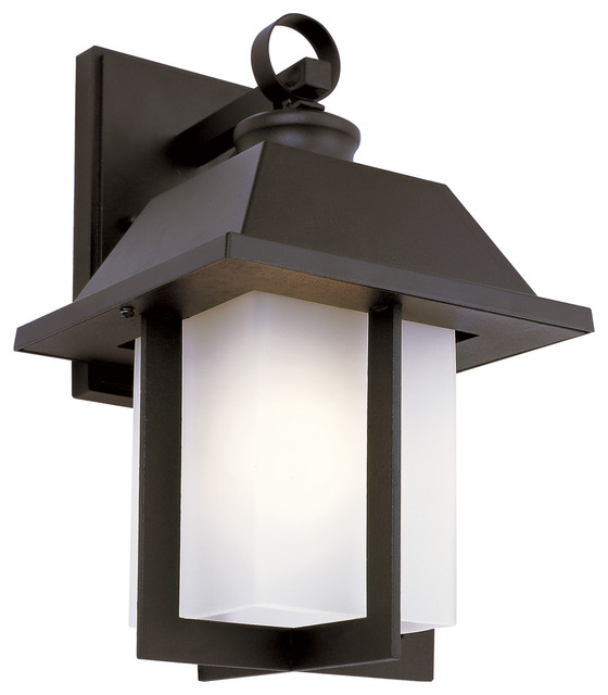 Trans Globe 40111 BK Pagoda Small Black Outdoor Wall Sconce - Transitional - Outdoor Wall Lights ...