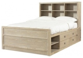 Kids Full Size Bookcase Storage Bed Contemporary Kids