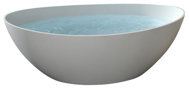 Badeloft - UPC Certified - Stone Resin, Freestanding Bathtub, Glossy, Extra Larg modern-bathtubs