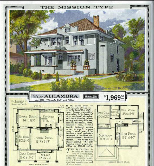 Vintage sears catalog craftsman house plans traditional for Vintage house plans craftsman