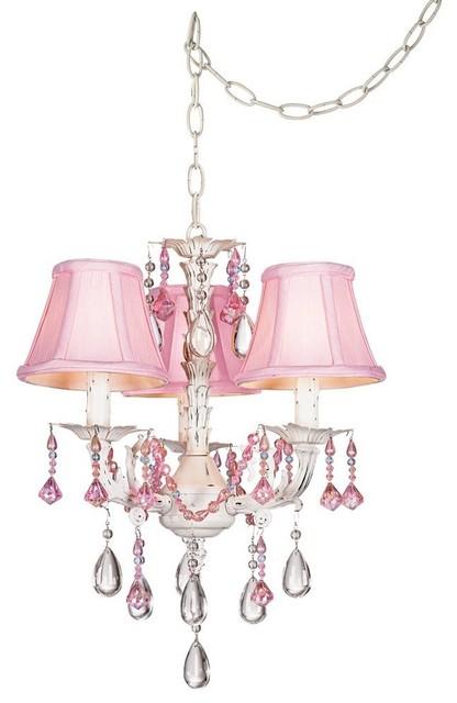 Pink Mini Chandelier