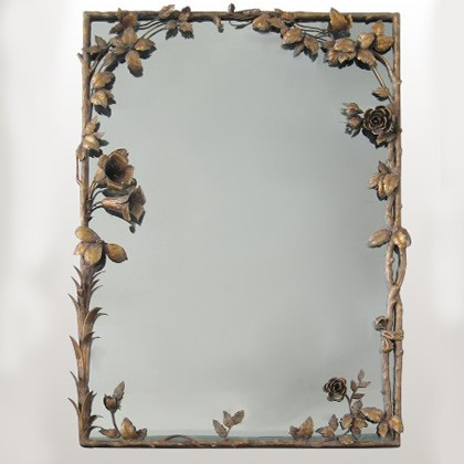 Gilded Lilly Mirror traditional