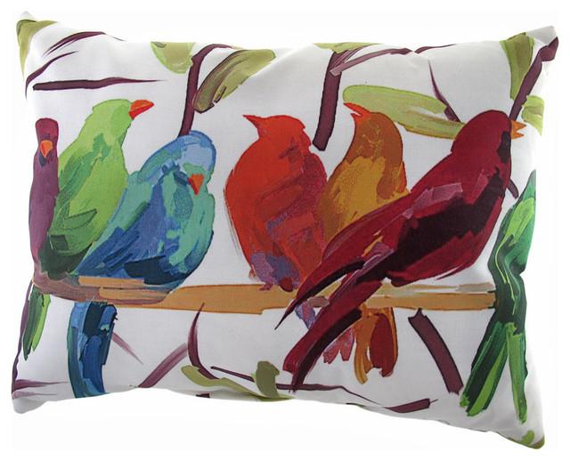 Outdoor Throw Pillows Birds :