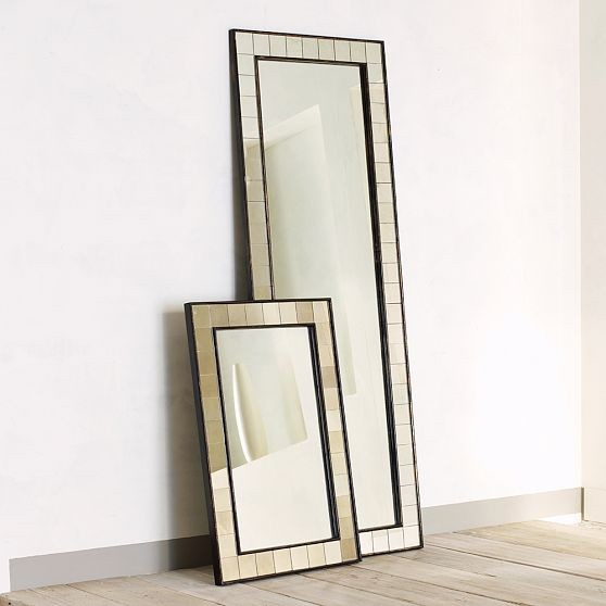 Antique Tiled Floor Mirror eclectic-mirrors