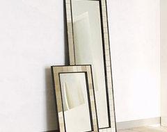 Antique Tiled Floor Mirror eclectic-mirrors