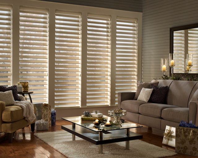 Silhouette quartette with ultraglide modern window for Decor blinds and shades